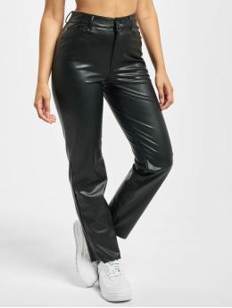 Only Látkové kalhoty onlEmily High Waist St Ank Faux Noos čern