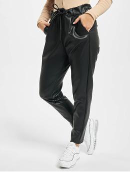 Only Látkové kalhoty onlPoptrash Easy Coated Noos čern