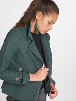 Only Leather Jacket onlSaga Faux Leather  green