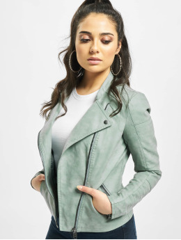 Only Leather Jacket onlAva Faux green