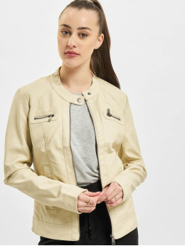Only Lederjacke onlBandit Faux Noos Leather Biker beige