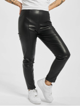 Only Leggings onlTea-Miri Mw Faux Leather svart