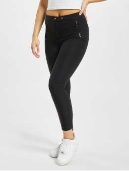 Only Leggings/Treggings onlJamila High Waist Zip Ankle black