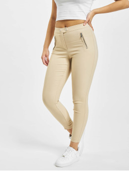Only Leggings/Treggings onlJamila High Waist Zip Ankle brown