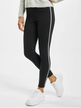 Only Leggings/Treggings onlTia Mid Waist Ankle Panel czarny
