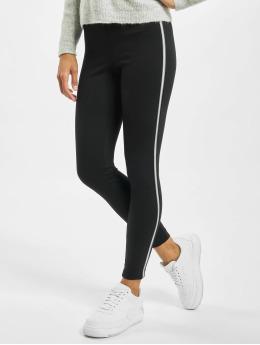 Only Leggings/Treggings onlTia Mid Waist Ankle Panel svart