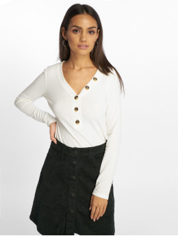 Only Longsleeves onlMona Button Rib bialy