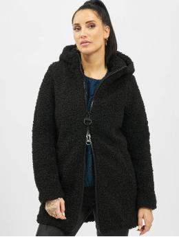 Only Manteau onlTerry Curly Fur Hood noir