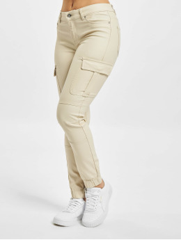 Only Pantalon cargo onlMissouri Reg Ank Coated beige
