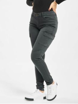 Only Pantalon cargo onlCece-Bibi Regular Skinny  gris