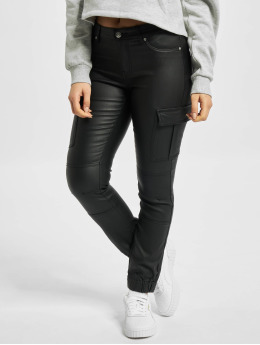 Only Pantalon cargo onlMissouri Reg Ank Coated noir