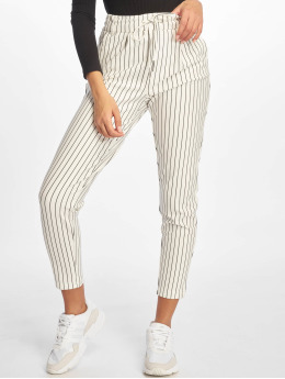 Only Pantalon chino onlPoptrash Easy Rush Stripe blanc