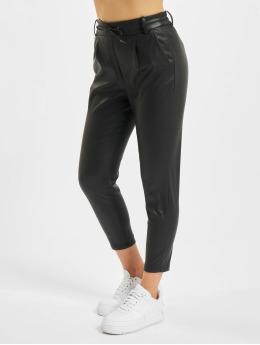 Only Pantalon chino onlPoptrash Faux Leather noir