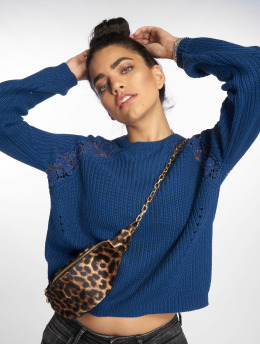 Only Pullover onlMaga Lace Knit blau