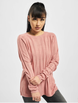 Only Pullover onlPeps Rib Tall Knit rosa
