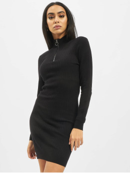 Only Robe onlTyra Highneck Zip Knit noir