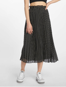 Only onlPaige Life Above Calf Skirt Black/White Dots
