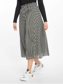 Only onlPaige Life Above Calf Skirt Black/Cloud Dancer
