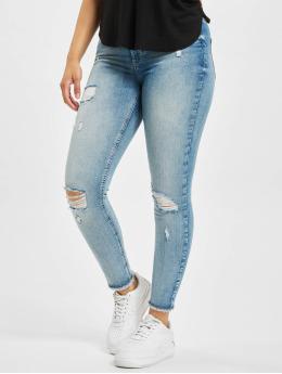 Only Skinny jeans onlBlush Life Mid Raw Ankle Dest REA213 blå