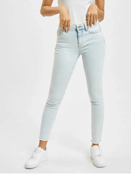 Only Skinny Jeans onlBlush Life Mid Raw Ankle BB REA298 blå