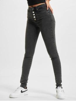 Only Skinny Jeans onlRoyal High Waist Fly BTN Acid BB PIM119 czarny