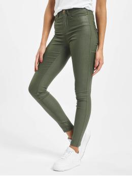 Only Skinny Jeans onlRoyal High Waist oliwkowy