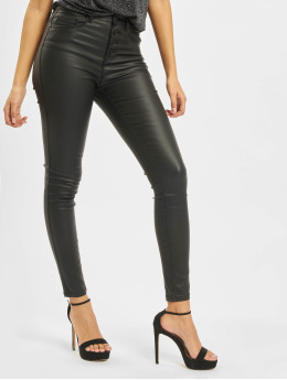 Only Skinny Jeans onlRoyal High Waist Button Coated sort