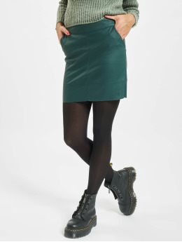 Only Skirt onlBase Faux Leather Noos green