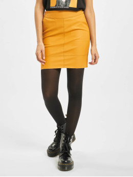 Only Skirt onlBase Faux Leather Noos yellow