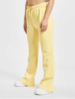 Only Spodnie do joggingu onlJoy Sweet Flared zólty