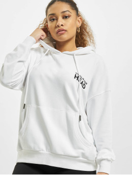 Only Sweat capuche onlTenna Life Oversize blanc