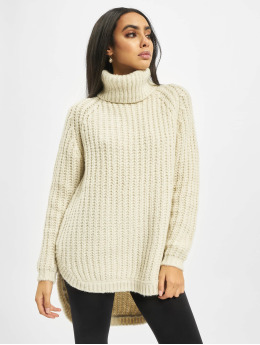 Only Swetry onlMella Rollneck Knit  bezowy