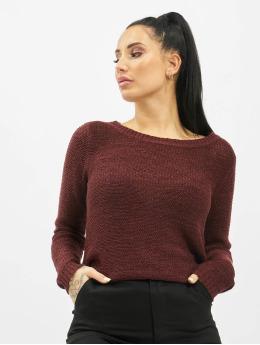 Only Swetry onlGeena XO Knit NOOS  czerwony