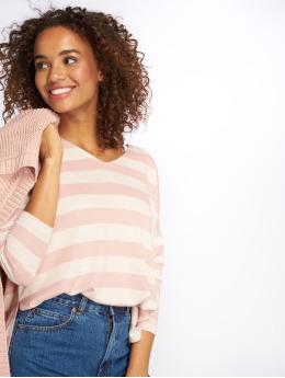 Only Swetry onlMaye LS Stripe V-Neck rózowy
