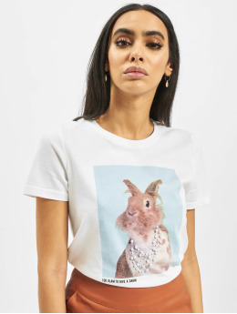 Only T-Shirt onlCathrine Regular Pet  blanc