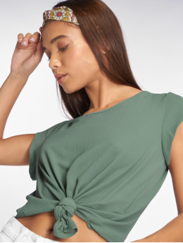 Only t-shirt onlVic Solid Woven groen