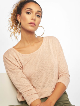 Only T-Shirt manches longues onlCasa Solid Slub 4/5 rose