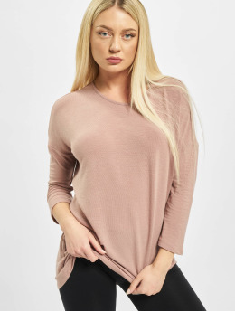 Only T-Shirt manches longues onlGlamour 3/4 rose