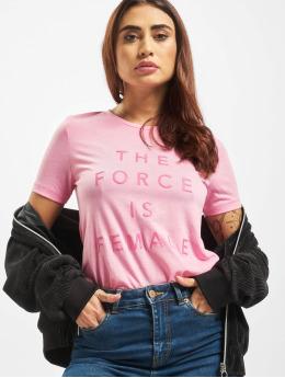 Only t-shirt onlLina Regular Print Box Li pink