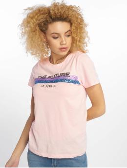 Only T-Shirt onlKita Regular Sequin Box Co rosa