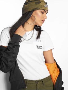 Only Frauen T-Shirt onlPolly Regular Pocket Box Co in weiß