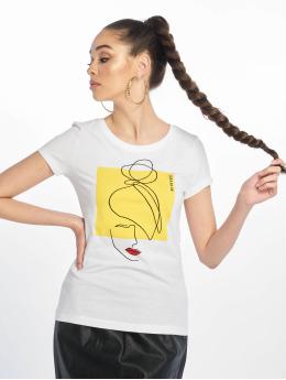 Only T-Shirt onlFancy Fit Face weiß