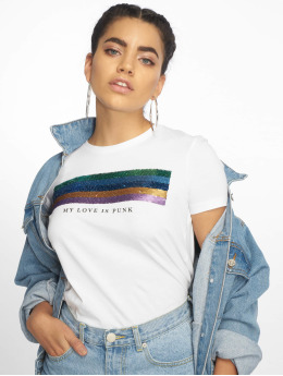 Only t-shirt onlKita Regular Sequin Box Co wit