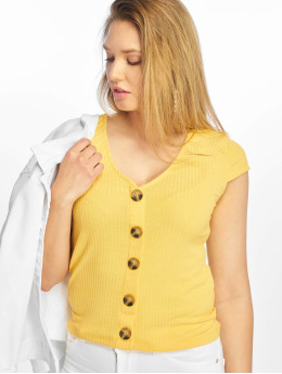 Only T-Shirt onlNella Button yellow