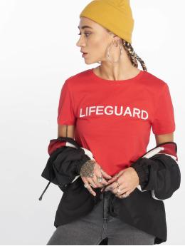 Only T-shirts onlJob Regular Print Box Co rød