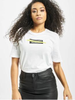 Only T-skjorter onlMary Boxy  hvit