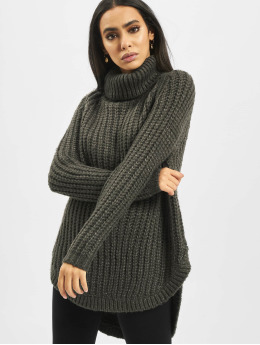 Only trui onlMella Rollneck Knit grijs
