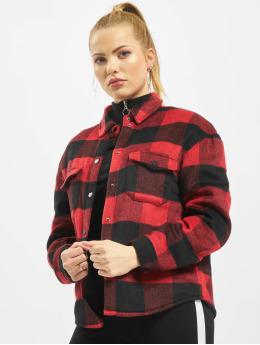 Only Veste mi-saison légère onlBret Checked Shirt rouge