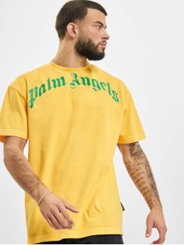 Palm Angels Футболка Vintage Wash Curved Logo желтый