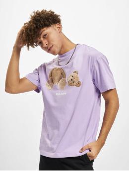 Palm Angels T-skjorter Pa Bear Classic lilla